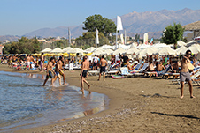Agia Marina beach in Chania, Crete, Greece