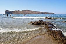 Agia Marina beach in Chania, Crete - Thodorou Island
