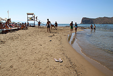 Agia Marina beach in Chania, Crete