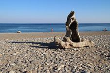 The beach of Anydroi near Palaioxwra, Chania, West Crete