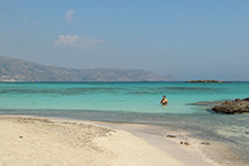 Elafonisi beach in Chania, West Crete