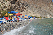 Glyka Nera Beach near Sfakia, Chania, South Crete