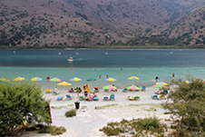 Kournas Lake Beach in Apokoronas, Chania, Crete