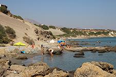 The beach of Orthi Ammos near Frangokastello, Sfakia, Chania
