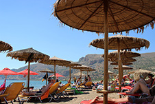 The beach of Pachia Ammos in Palaioxwra, Chania, West Crete