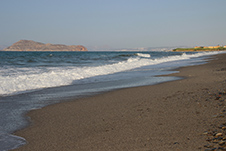 Pyrgos Psilonerou beach near Platanias, Chania, West Crete