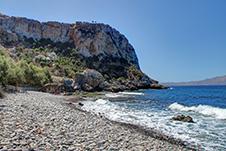 Ravdoucha Strand in Platanias, Chania, Kreta, Griechenland