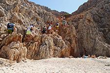 Seitan Limania Beach in Chania, Crete, Greece